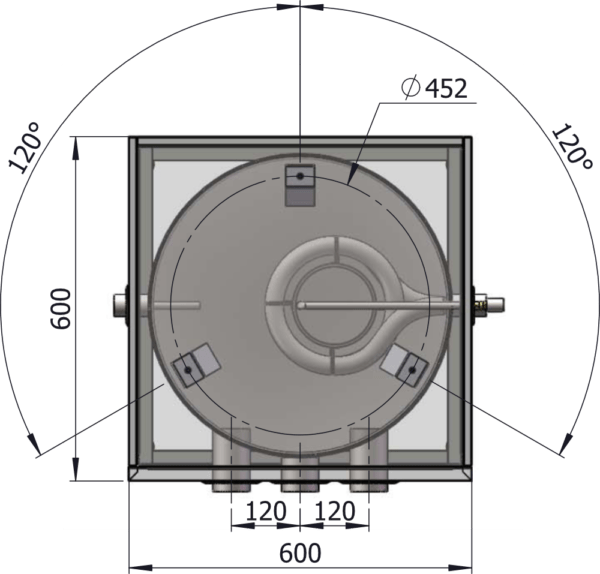 VP-Tank DN150_teknisk_tegning_topp